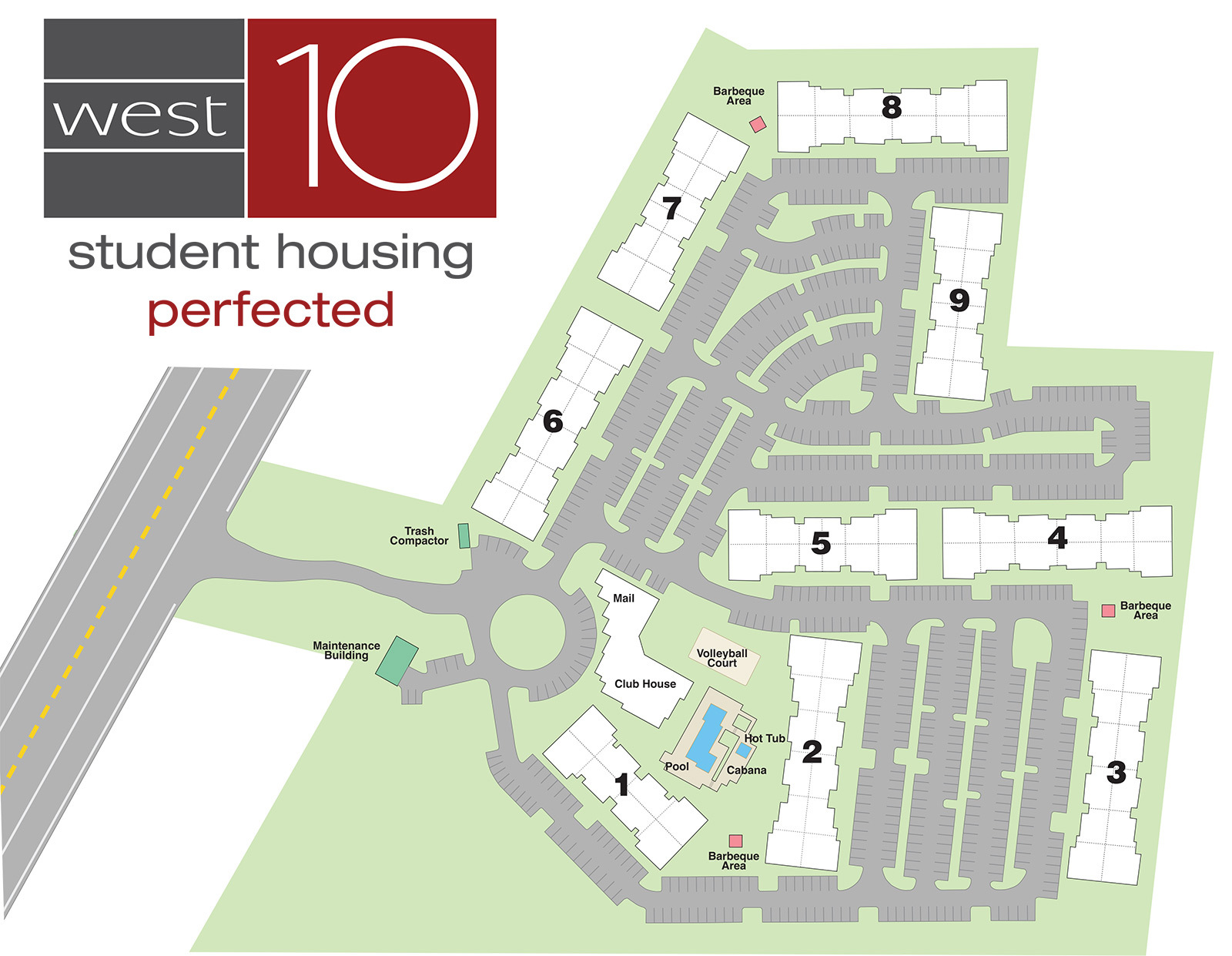 West10 Community Site Map